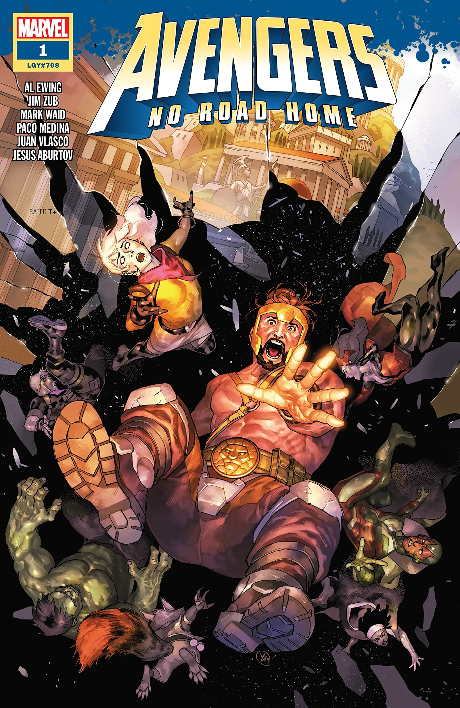 Avengers NM Marvel Vison Scarlet Witch Hercules Ewing 2019 No Road Home #10