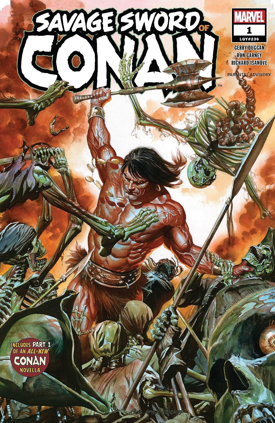 Copertina di Savage Sword of Conan n. 1. Disegni di Alex Ross.