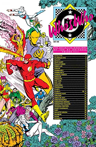 Who's Who: The Definitive Directory of the DC Universe (1985-1987) #8