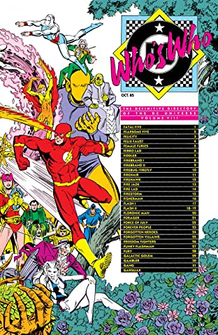 Who's Who: The Definitive Directory of the DC Universe (1985-1987) No.8