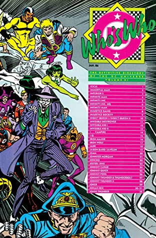 Who's Who: The Definitive Directory of the DC Universe (1985-1987) #11