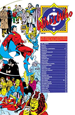 Who's Who: The Definitive Directory of the DC Universe (1985-1987) #16