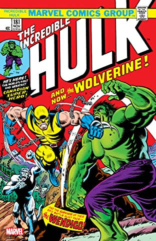 Wolverine: Incredible Hulk (1962-1999) #181: Facsimile Edition