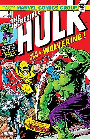 Wolverine: Incredible Hulk (1962-1999) #181: Facsimile Edition