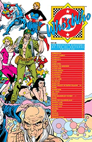 Who's Who: The Definitive Directory of the DC Universe (1985-1987) No.20