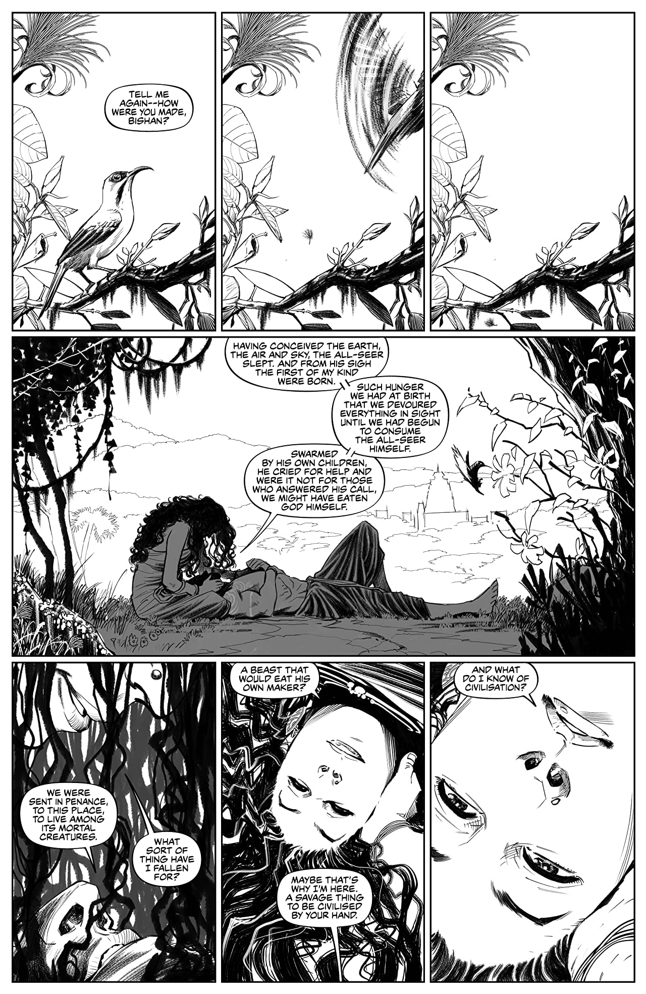 These Savage Shores #1: B&W Edition