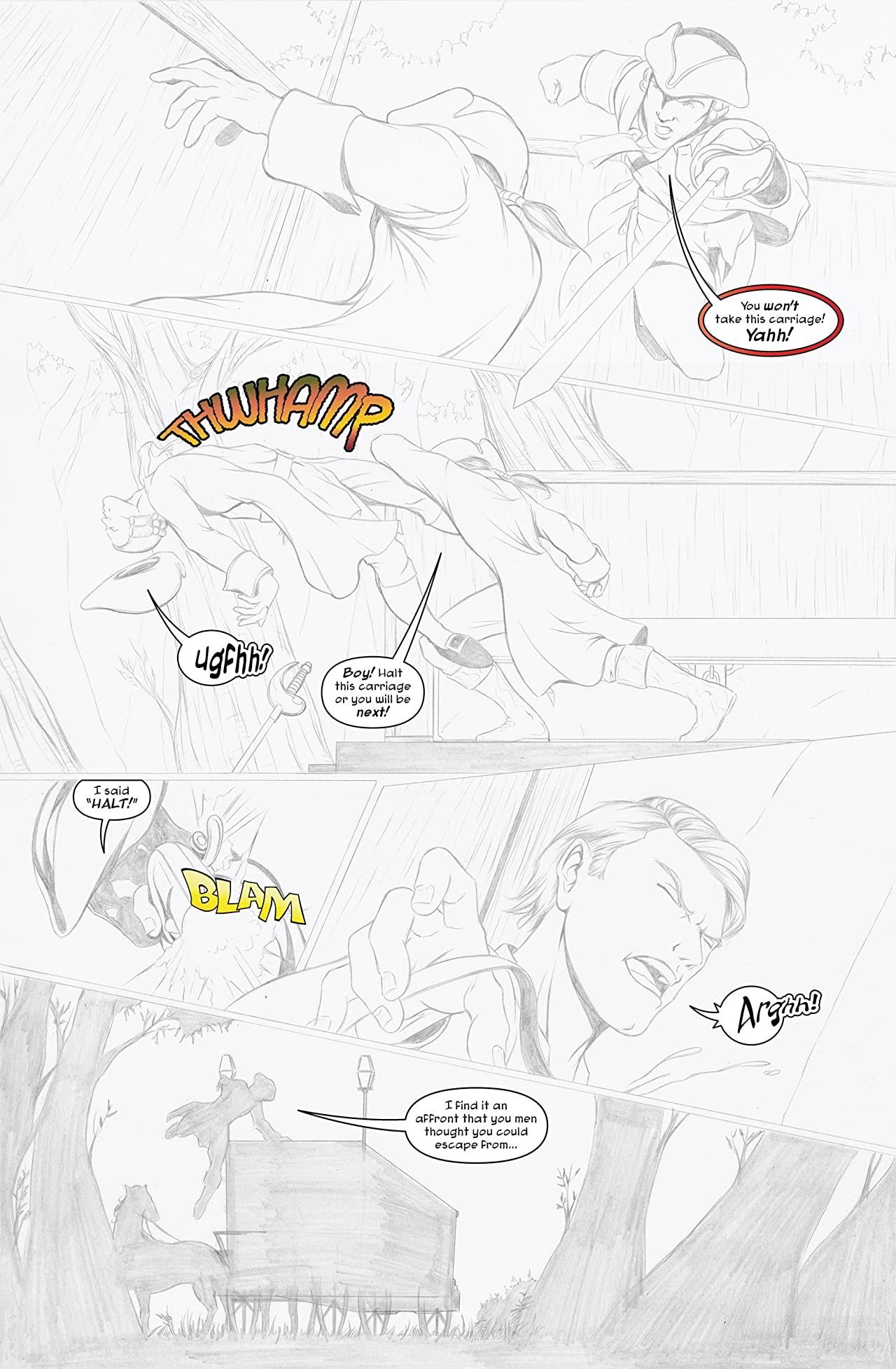 Dick Turpin Vol. 1: Pencil-Only Preview