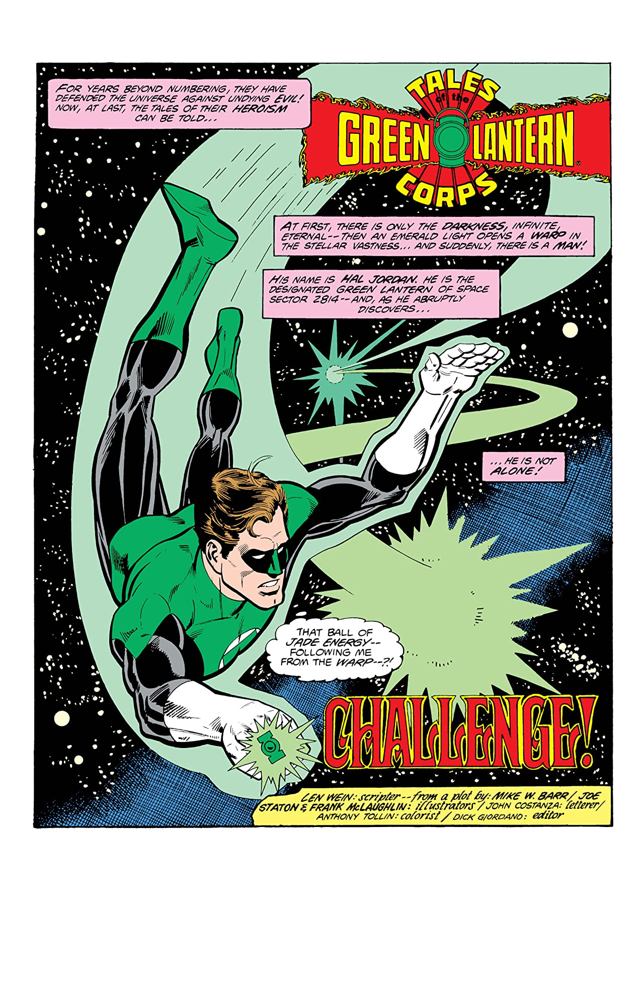 Tales of the Green Lantern Corps (1981-1987) #1