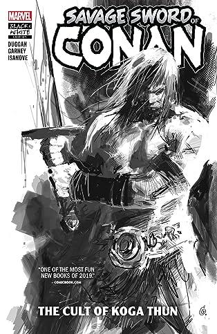 Savage Sword Of Conan: The Cult Of Koga Thun (Black And White)