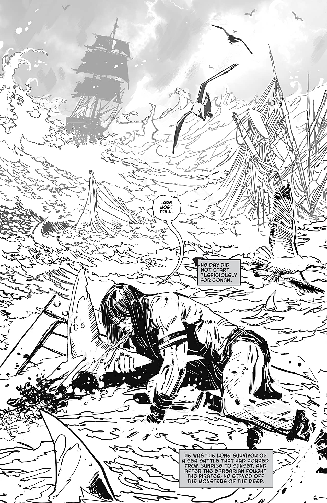 Savage Sword Of Conan: The Cult Of Koga Thun (Black And White)