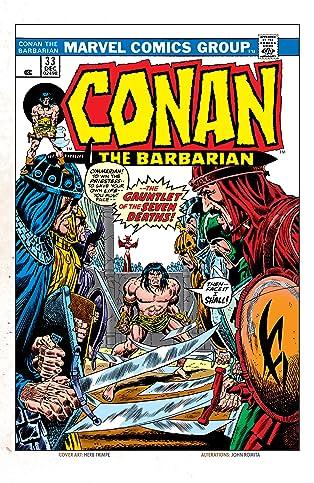Conan The Barbarian (1970-1993) #33