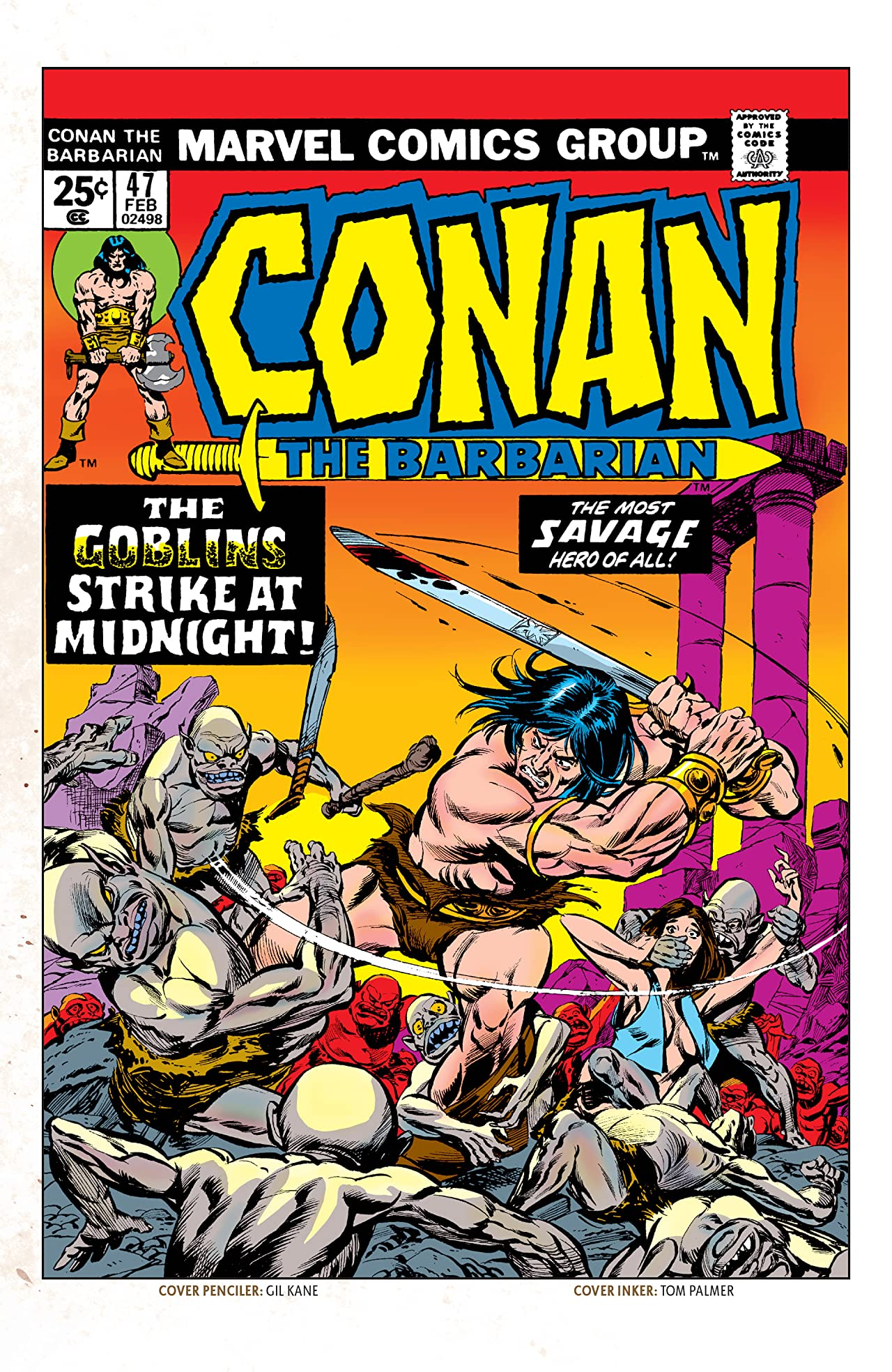 Conan The Barbarian (1970-1993) #47