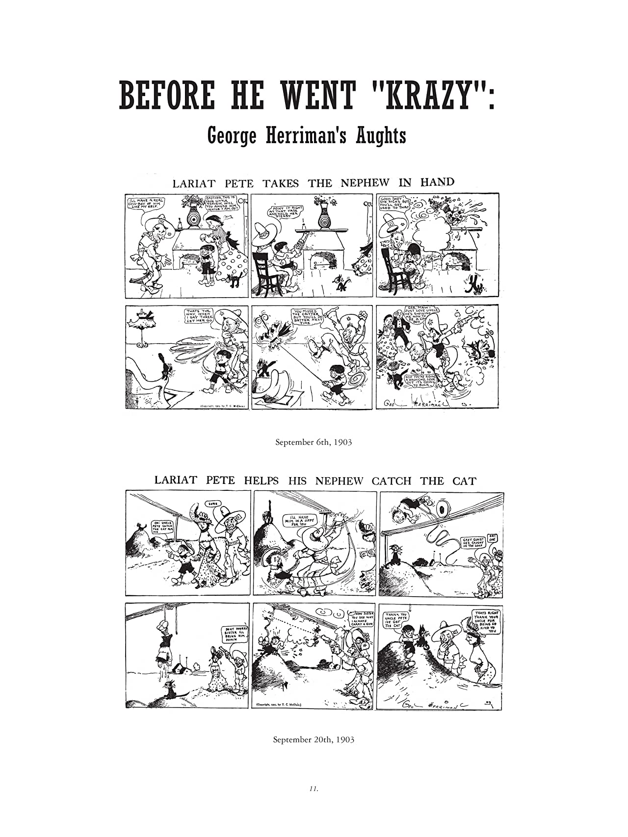Krazy & Ignatz: 1916-1918 - Love in a Kestle or Love in a Hut