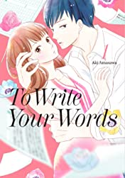 To Write Your Words Vol. 1