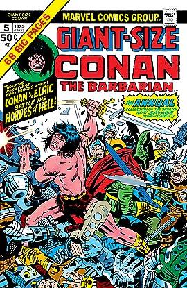 Conan The Barbarian Giant-Size (1974-1975) #5