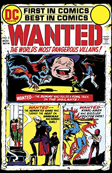 Wanted: The World's Most Dangerous Villains (1972-1973) #3
