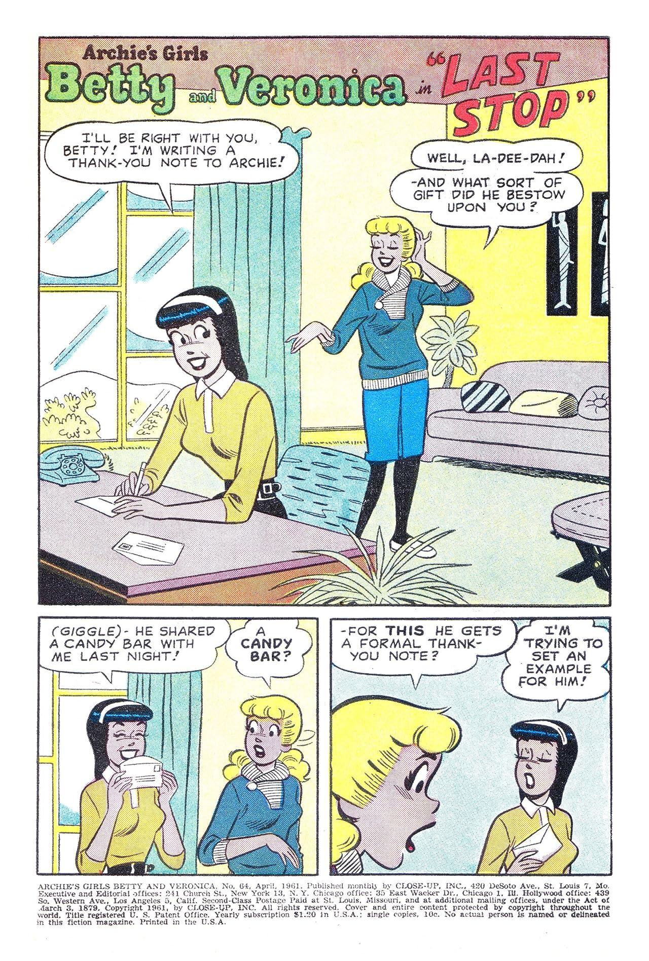 Archie's Girls Betty & Veronica #64