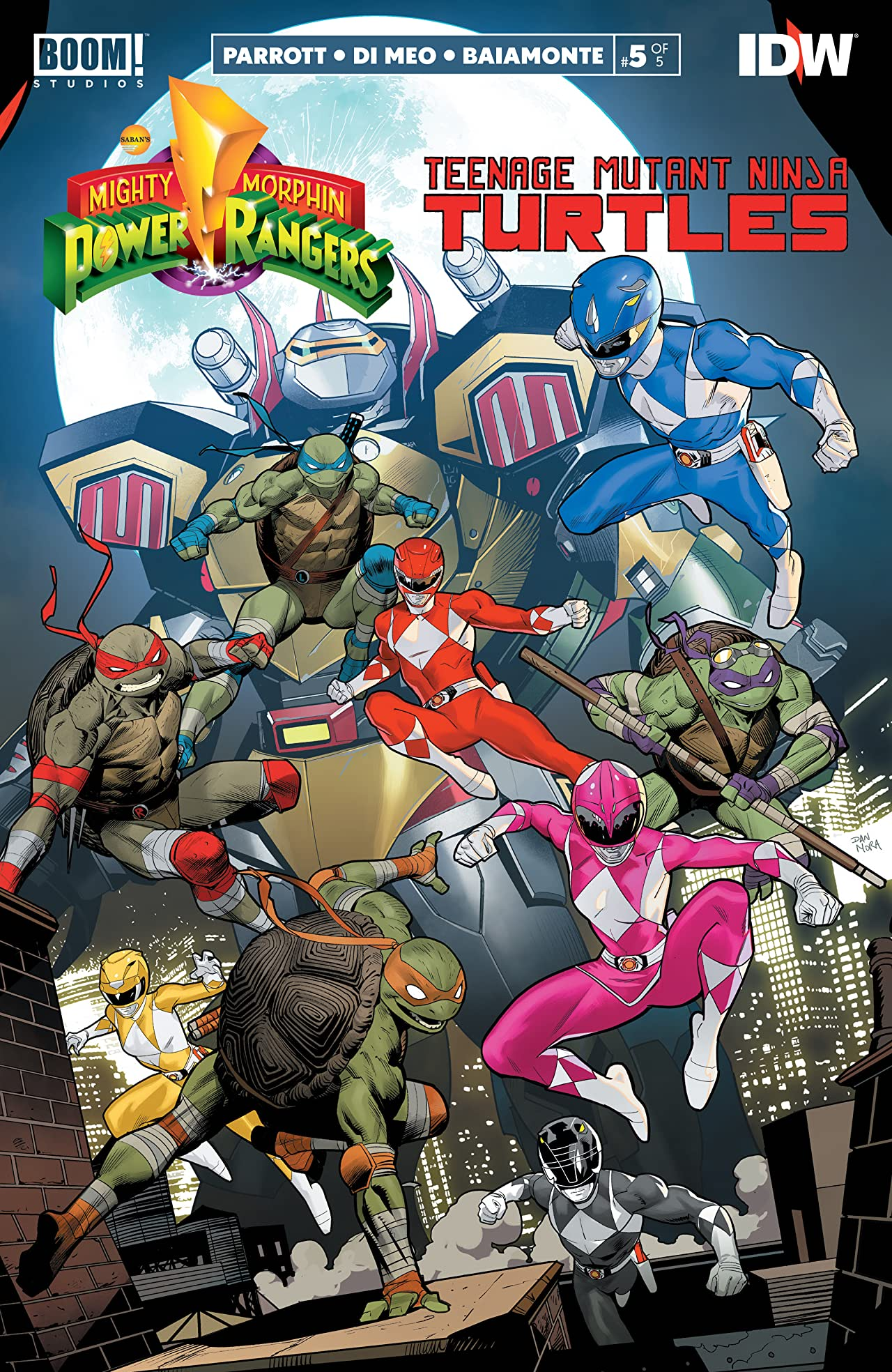 Mighty Morphin Power Rangers/Teenage Mutant Ninja Turtles No.5