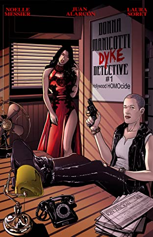DONNA MANICOTTI DYKE DETECTIVE #1 Hollywood HOMOcide No.1