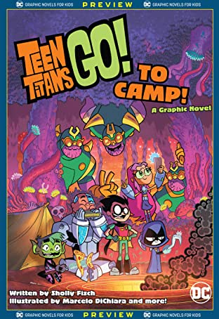DC Graphic Novels for Kids Sneak Peeks: Teen Titans Go! to Camp (2020-) No.1