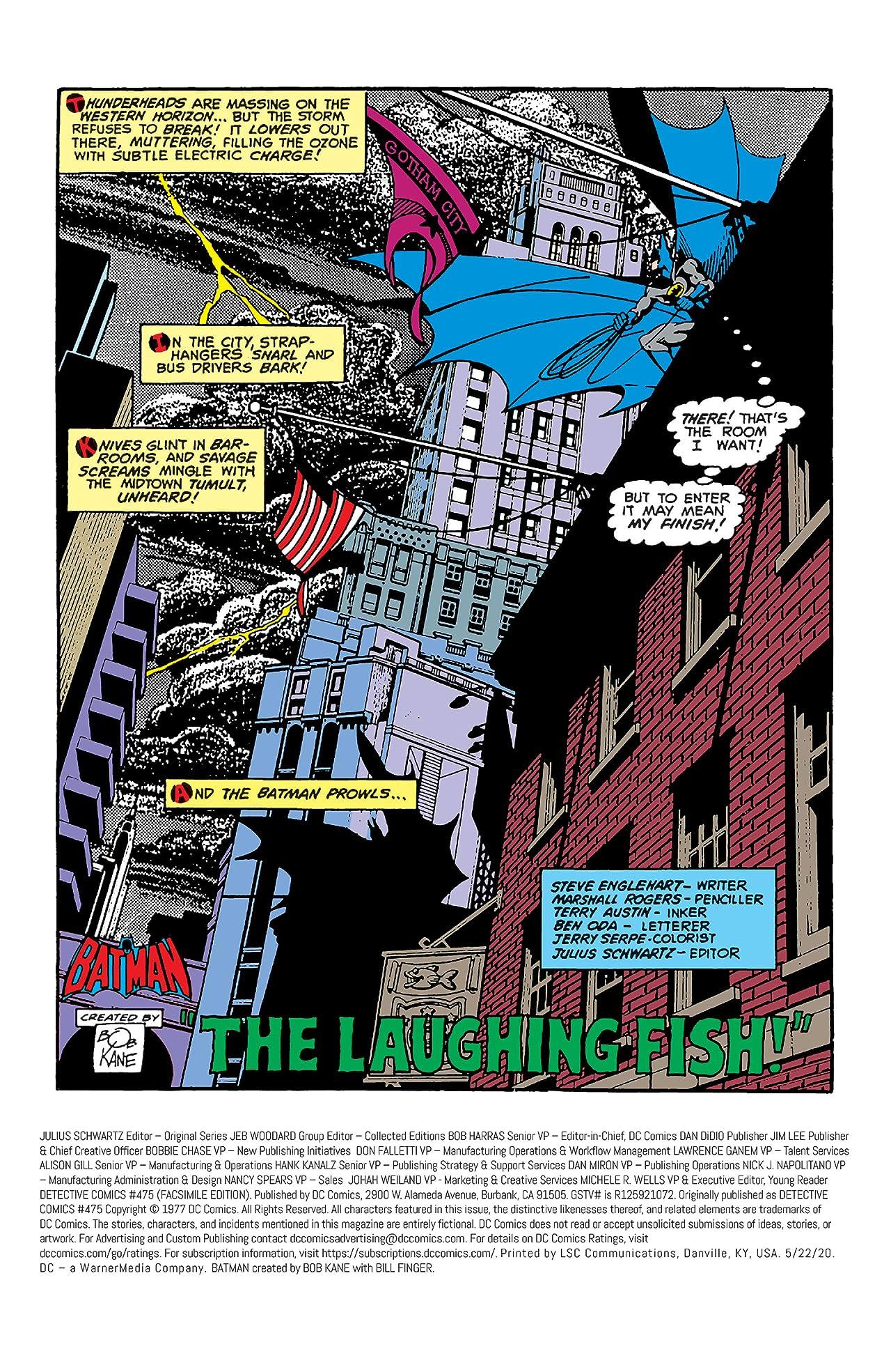 Detective Comics (1937-2011) #475: Facsimile Edition (2020)