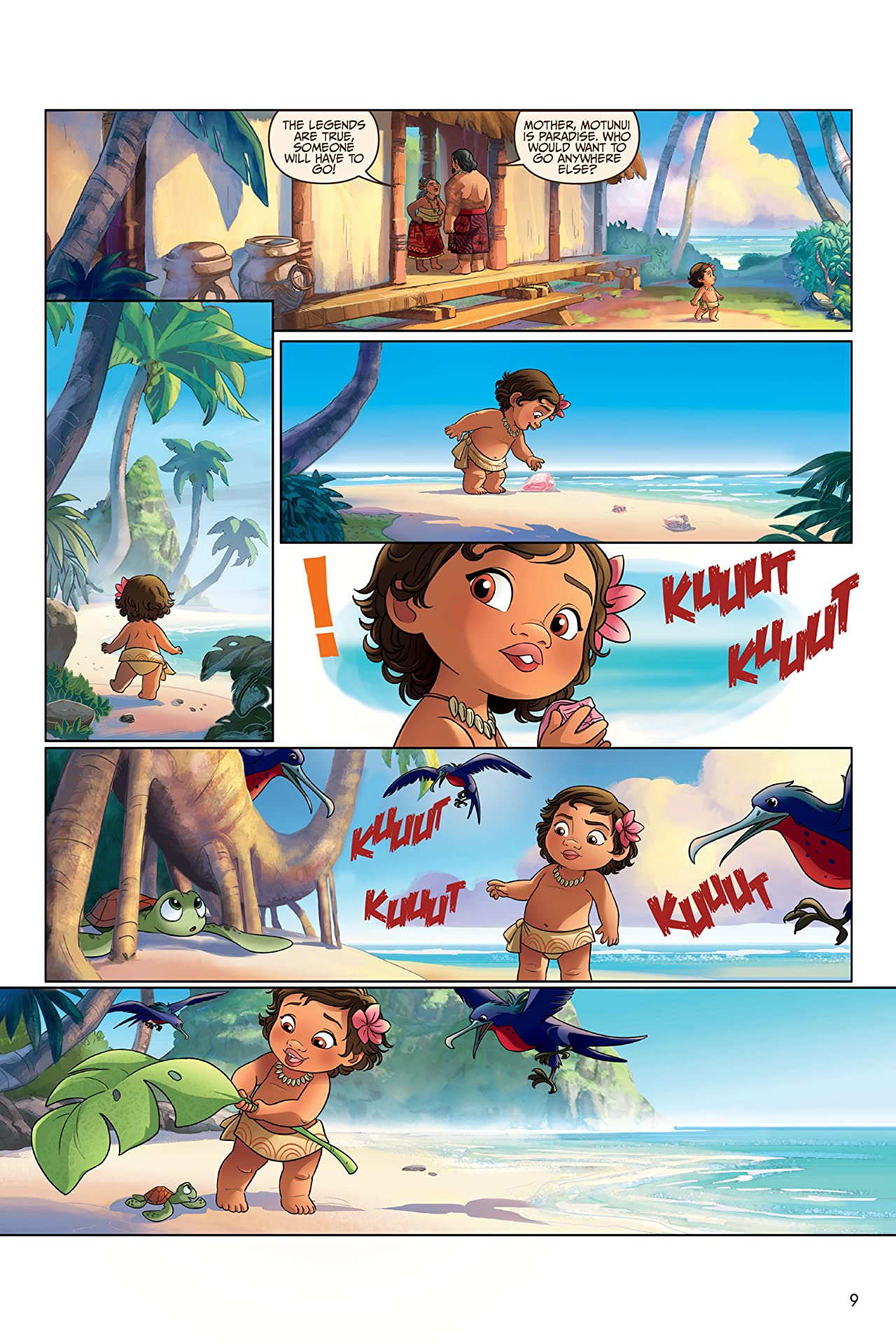 Disney Moana: The Story of the Movie in Comics