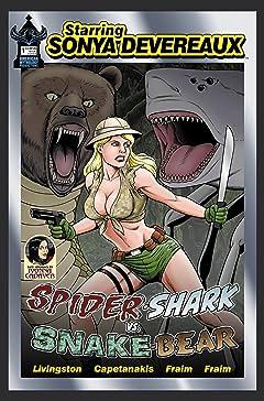 Starring Sonya Devereaux: Spidershark Vs Snakebear #4
