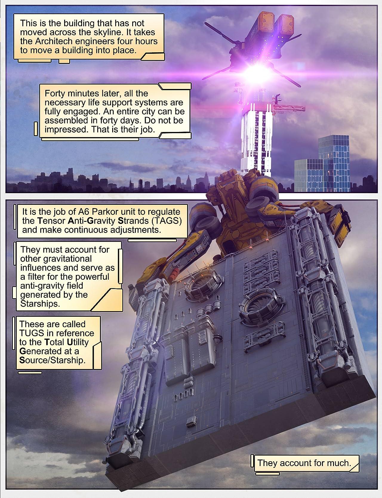 Force Six comic page