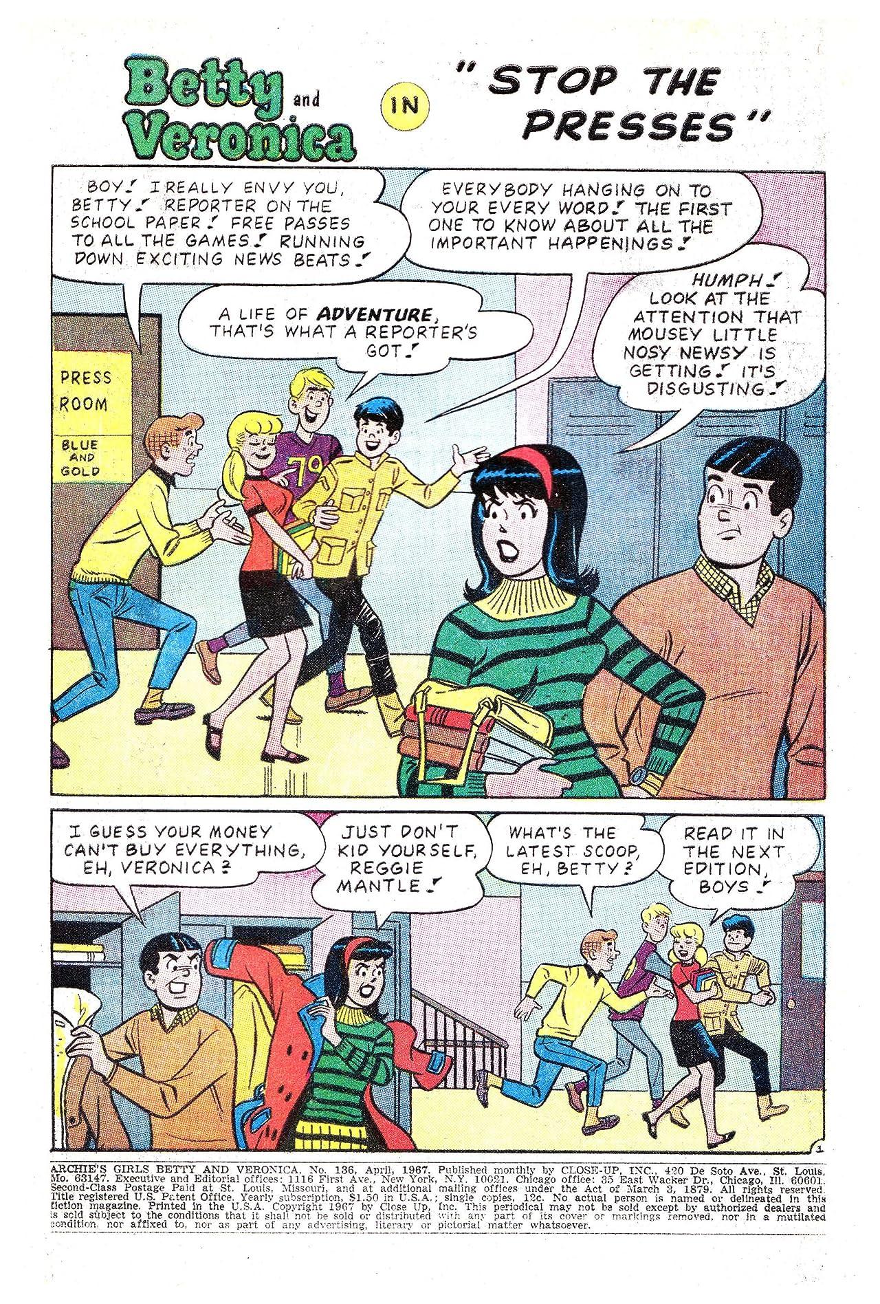 Archie's Girls Betty & Veronica #136
