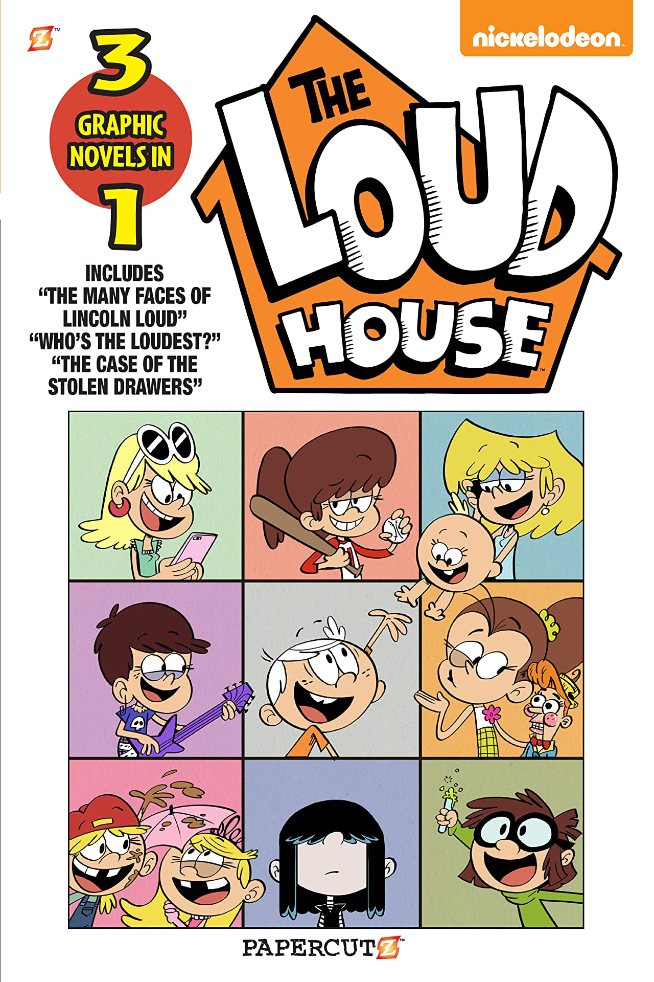 """Loud House 3 in 1 Tome 4: Collecting """"The Many Faces of Lincoln Loud,"""" """"Who's the Loudest?,"""" and """"The Case of the Stolen Drawers"""""""