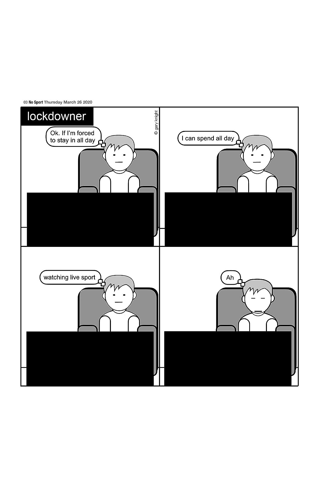 Lockdowner: The Covid-19 Lockdown Comic-strip