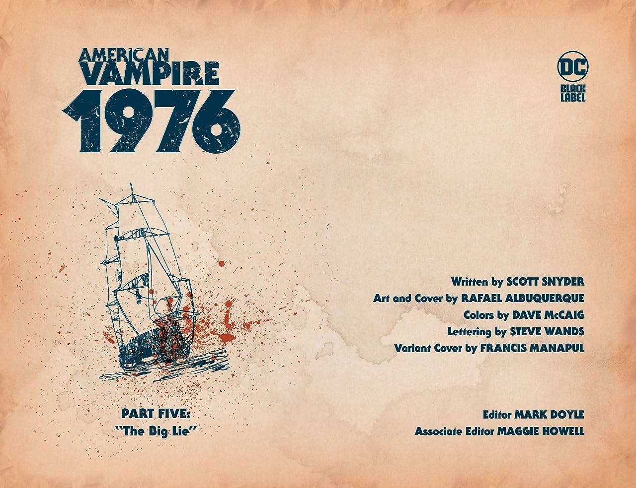 American Vampire 1976 (2020-) #5