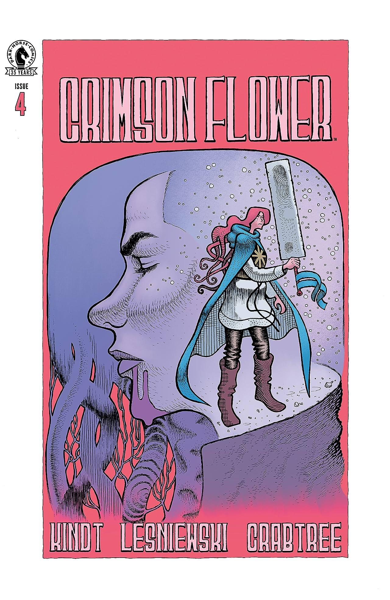 Crimson Flower No.4