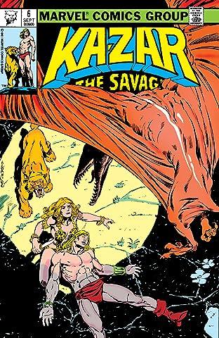 Ka-Zar The Savage No.6