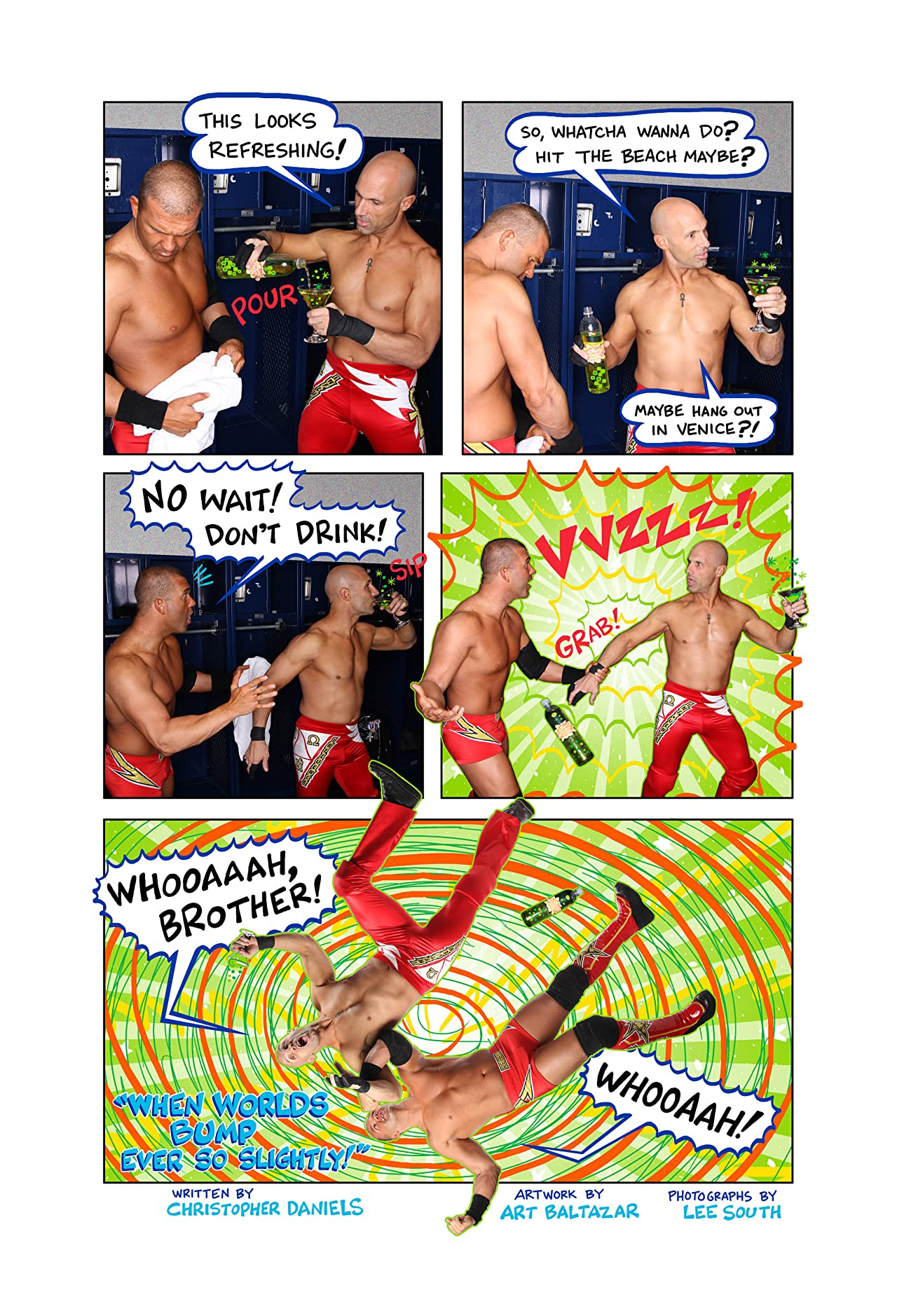 Christopher Daniels and Kazarian Wrestle AW YEAH COMICS! #1