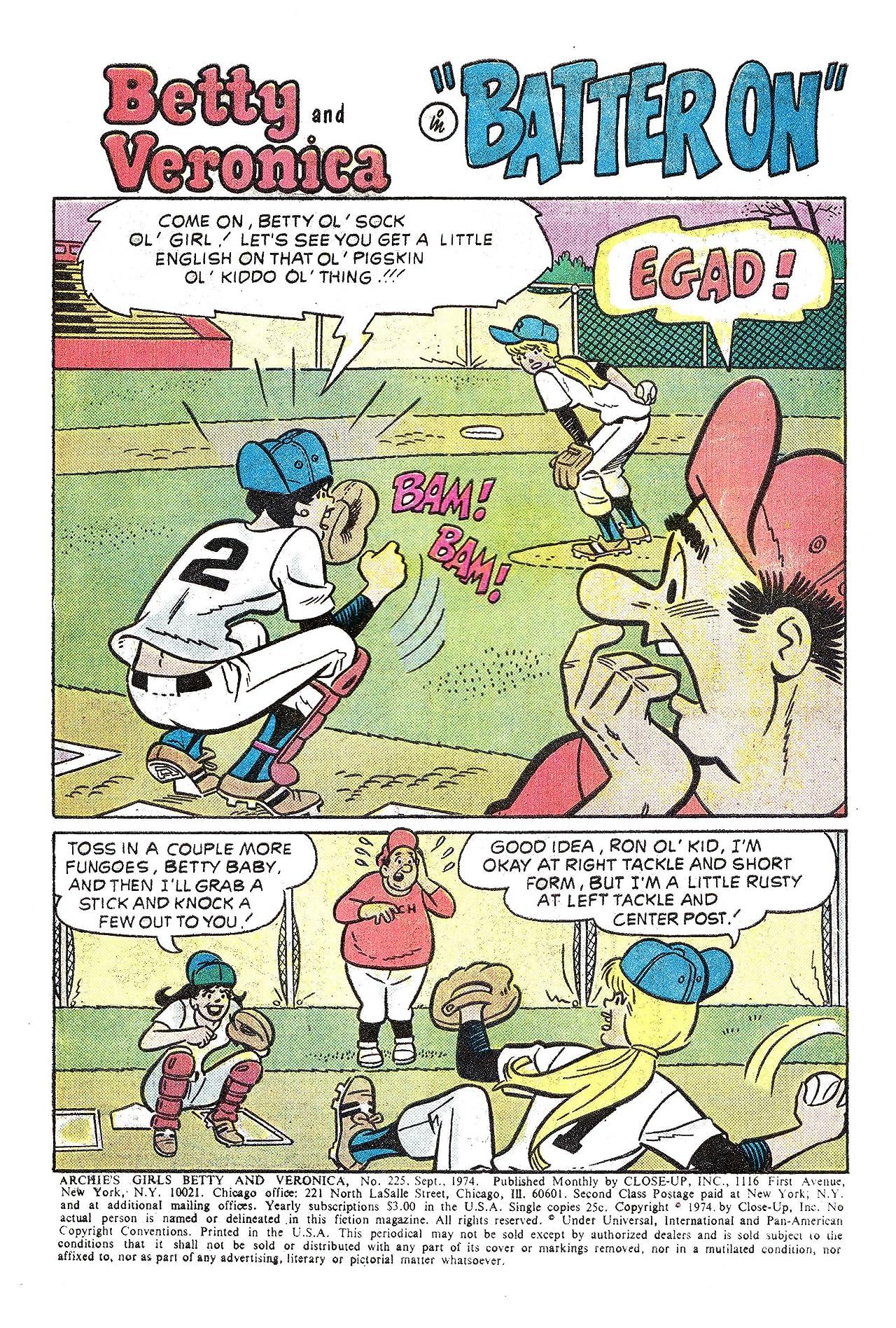Archie's Girls Betty & Veronica #225