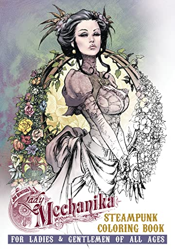 Lady Mechanika Steampunk Coloring Book TP