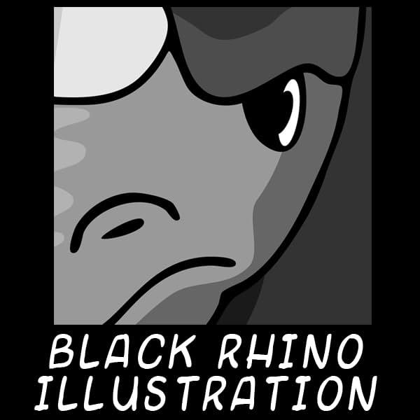 Black Rhino Illustration