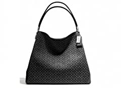 Madison Phoebe Shoulder Bag, Black/Silver