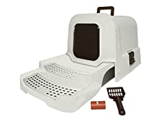 KittyKlean Litter Box with Rattan Finish