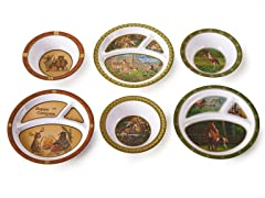 6 Piece Plate/Bowl Set - Animals II