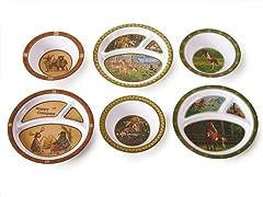 6 Piece Plate/Bowl Set - Animals II