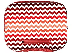 Fuzzy Lapdesk - Chevron Red Fade