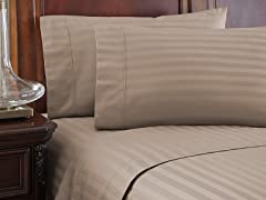 500TC 100% Pima Cotton Damask Sheet Sets-Cal King