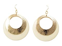 Gold/Ivory Color Earrings