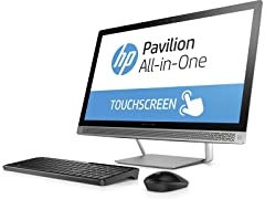 "HP Pavilion 24"" AMD A9 Full-HD Touch AIO Desktop"