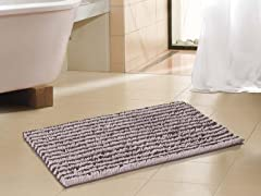 "17"" x 24"" Bath Rug - Brown/Taupe"