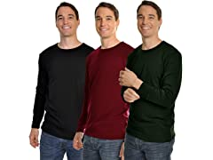 Swan Men's Fleece-Lined Crew Long Sleeve