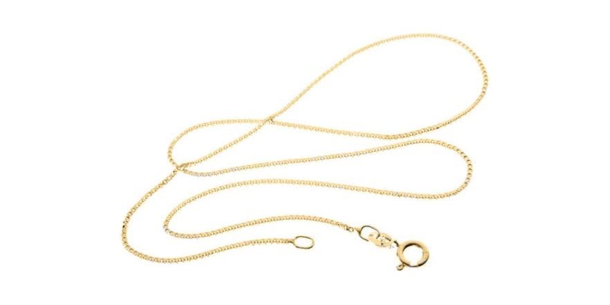 Italian 18kt gold plated box chain fashion for Italian kitchen silver spring