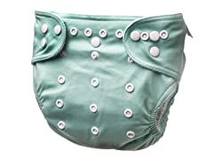 Adjustable Cloth Diaper - Brook Green